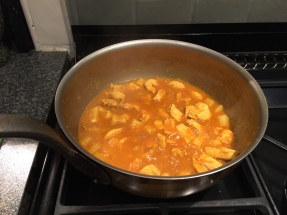 Cooking the curry