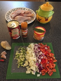 Ingredients for Kedjenou Chicken
