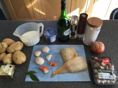 Scallop pie ingredients