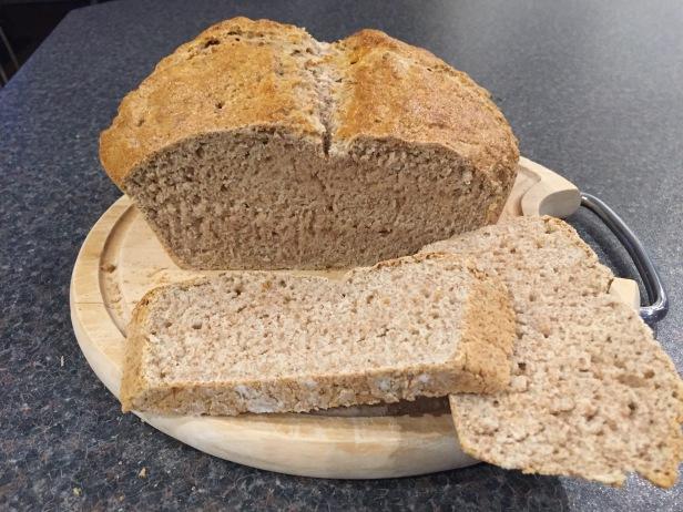 Sliced soda bread