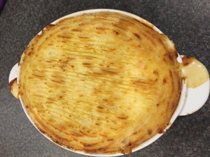 Cooked scallop pie