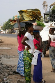 Gambia girls at the Fish market