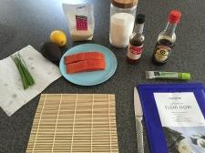Ingredients for Maki-zushi (sushi rolls)