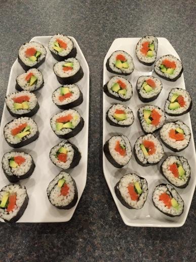 Maki-zushi (sushi rolls)