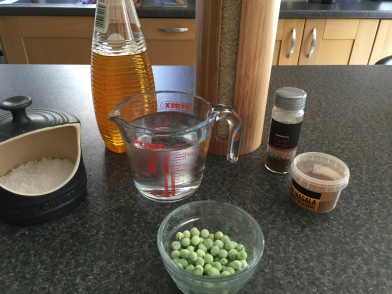 Ingredients for Peas Pulao