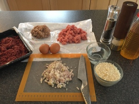 Ingredients for Hakklihakotlet