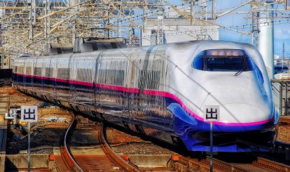 High speed Japanese train