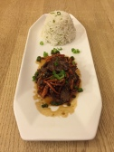 Bulgogi (grilled marinated beef) with rice