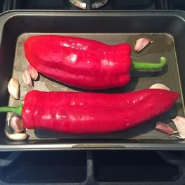 Ingredients for roast pepper paste