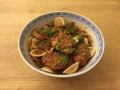 Alentejana pork and clam stew (carne de porco a alentejana)