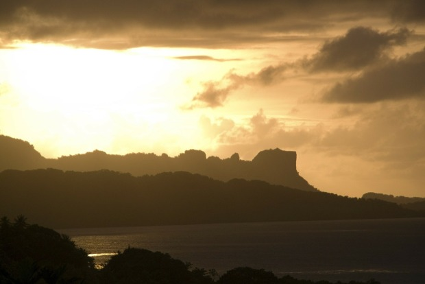 micronesia sunset