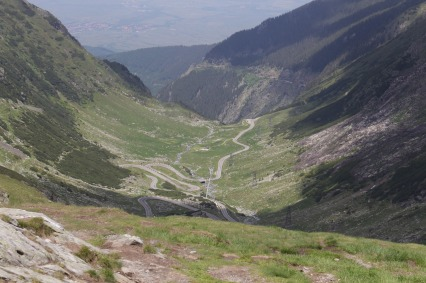 Carpathian mountain pass, Romania
