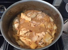 Poulet Yassa (chicken marinated with onions and lemons)