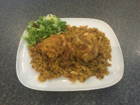 Machboos (spicy chicken and rice)