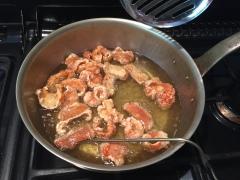 Frying the Chicharrones