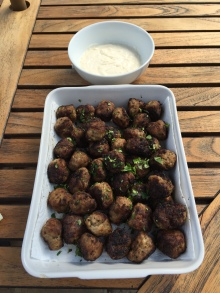 Kjoftinja (meatballs) with aioli dip