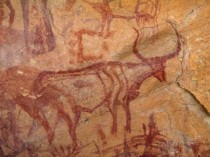 Jebel Acacus rock paintings, Libya