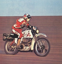 The Yamaha XT500 in the 1st Paris-Dakar in 1979