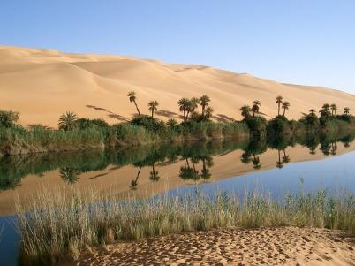 Saharan Ubari lakes, Libya