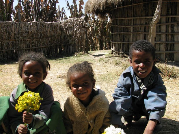 Ethiopian village children