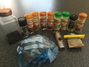 Ingredients for Berbere spice blend