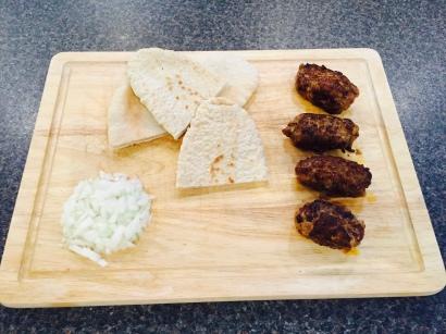 Ćevapi (meat kebabs)