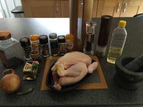 Ingredients for Chicken Mandi (slow cooked spiced chicken over rice)