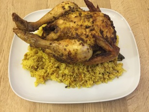 Chicken Mandi (slow cooked spiced chicken over rice)