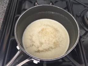 Clarifying the butter
