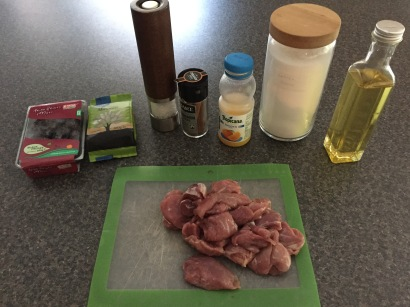 Ingredients for Lahm Lhalou (Algerian Sweet Lamb)