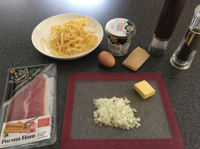 Ingredients for Fettuccine alla Papalina
