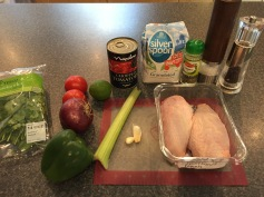 Ingredients for Dominican Pollo Guisado