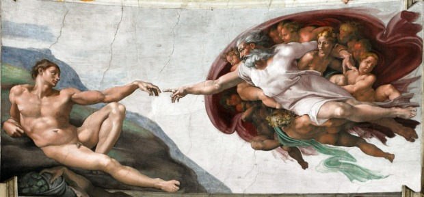 the-creation-of-adam-by-michelangelo