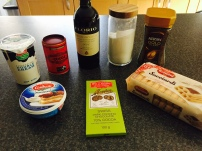 Ingredients for Tiramisu