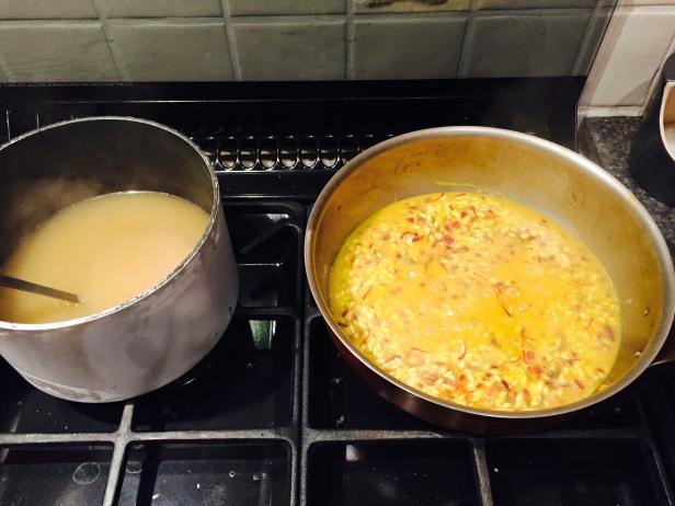 Risotto alla Milanese (risotto with saffron)