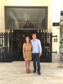 Bern and I at the Aldrovandi Villa Borghese hotel, Rome