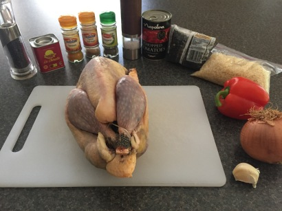 Ingredients for Guinea Fowl Paella