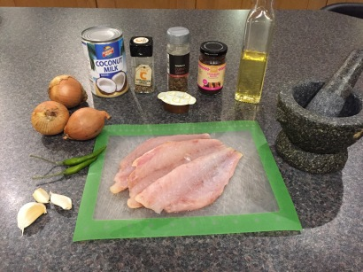 Ingredients for Bruneian Fish curry