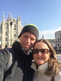 Bern and I at The Duomo, Milan