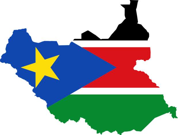 south-sudan-flag-on-map