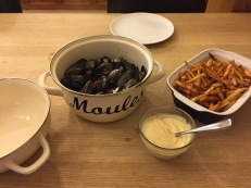 Moules Frites with homemade Mayonnaise