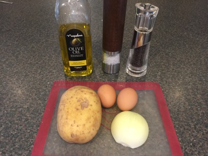 Ingredients for Tortilla (Spanish omelette)