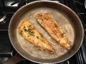 Brill with butter and tarragon